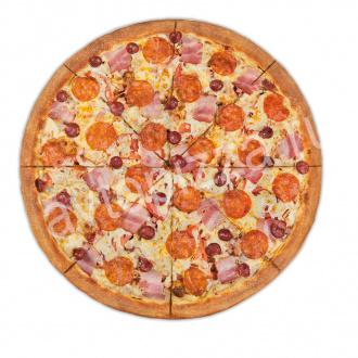 Пицца Мясной пир 33 см на тонком тесте