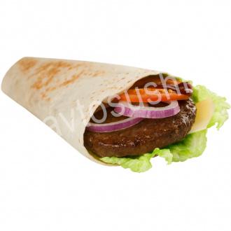 Big beef tortilla roll