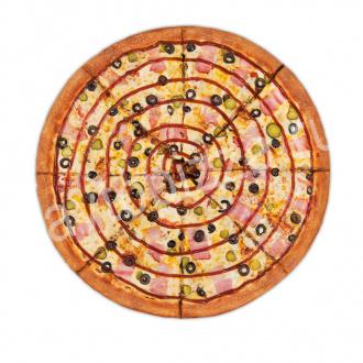 Пицца Барбекю 33 см на тонком тесте
