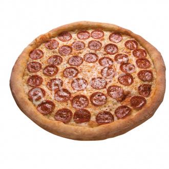 Пицца Дабл Чиз Пепперони 33 см на тонком тесте