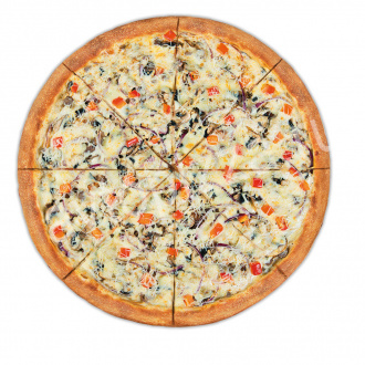 Пицца Мясная королева 33 см на тонком тесте
