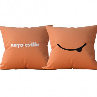 Подушка оранжевая