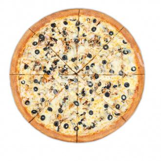 Пицца Курица-грибы 33 см на тонком тесте